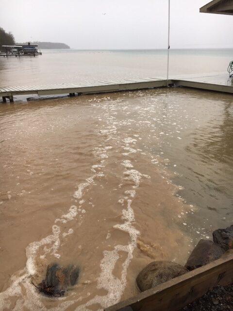 eroded soil in water